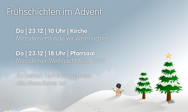 M-Stunde und Weihnachtsfeier