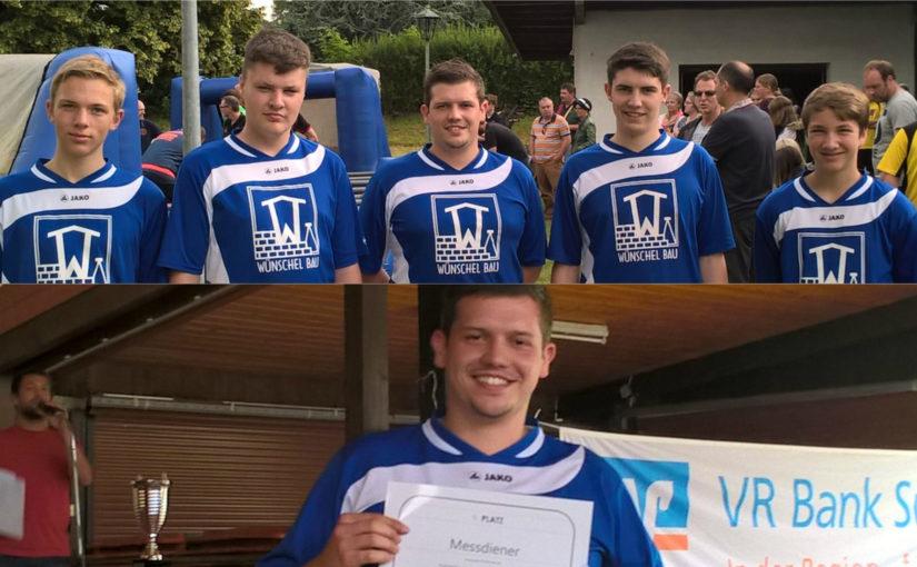 Messdiener erreichen 7. Platz bei Fußball-Dorfmeisterschaften