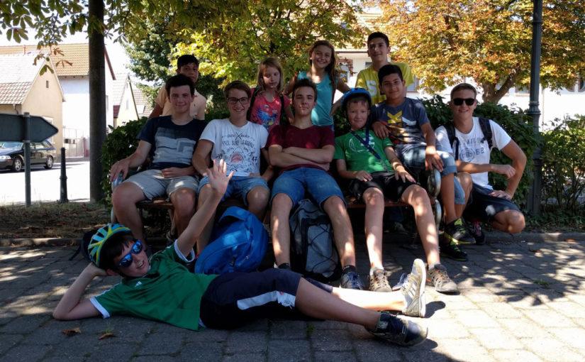 Ferienspaß Leimersheim 2017: Radtour zur alla-hopp!-Anlage
