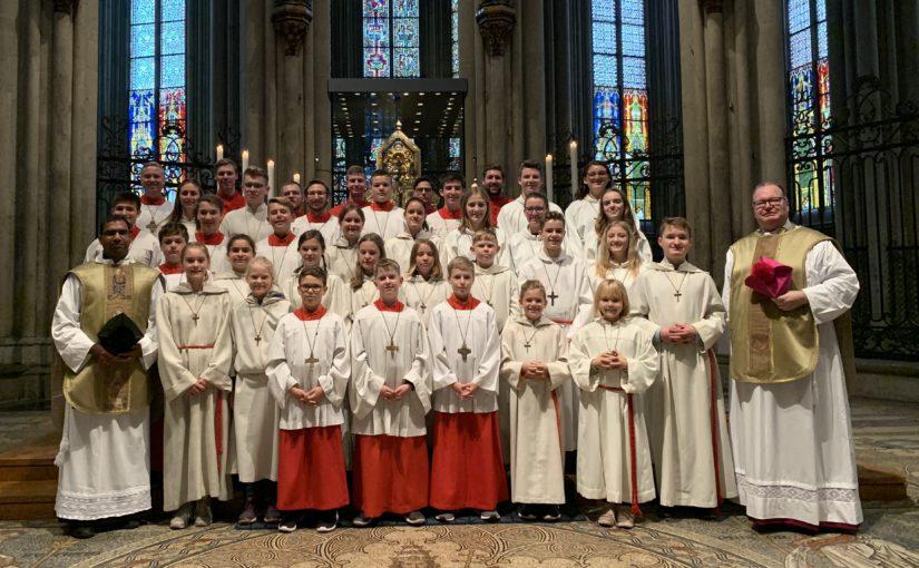 Messdiener der Pfarrei Hl. Theodard zu Gast im Kölner Dom